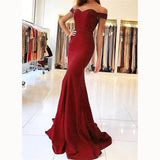 Off the Shoulder Royal Blue Mermaid Prom Dresses Long Women Party Gown evening ceremony dresses LP6625