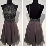 SP5478 Halter Beading Short Prom Dress,Homecoming Dress Short Graduation Formal Gown