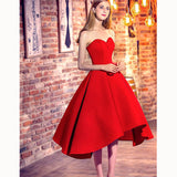 Lovely Sweetheart Red A Line Satin Short Homecoming Prom Dress vestidos longos Cocktail Dress SP7701