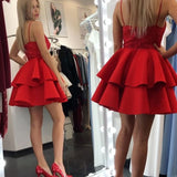 Red Short Homecoming Dress Graduation Prom Gown SP124