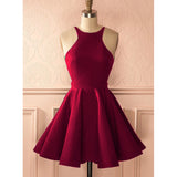 2020 Halter Homecoming Dress Semi Formal Party Gown Red Short Graduation Dress for Teens