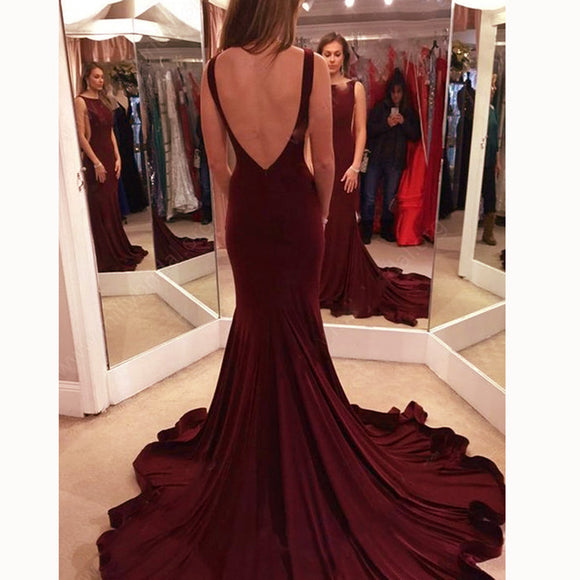 New Red Fitted Evening Gown Long Prom Party Dress vestidos longos abendkleider 2018