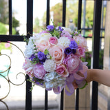 Wedding Bouquet Plants Floral Bouquet Gift Lace Handle Keepsake Bouquet Garden Theme Wedding Flowers