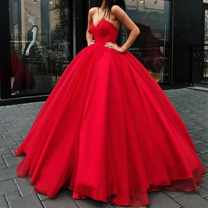Stylish Corset Sweetheart Red Wedding Dress Women Formal Ball Gown Prom Dresses LP0509