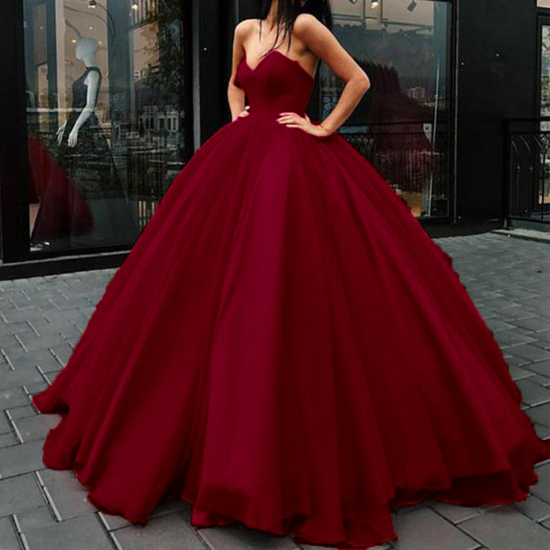 Red Wedding Dresses.Stylish Corset Sweetheart Red Wedding Dress Women Formal Ball Gown Prom Dresses Lp0509
