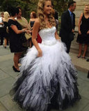 Siaoryne LP0928 Sweetheart Black and White Ball Gown Quinceanera Dress Girls formal prom Gown