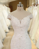 Off the Shoulder Lace Mermaid Bridal Dress Robe De Mariee Wedding Gown