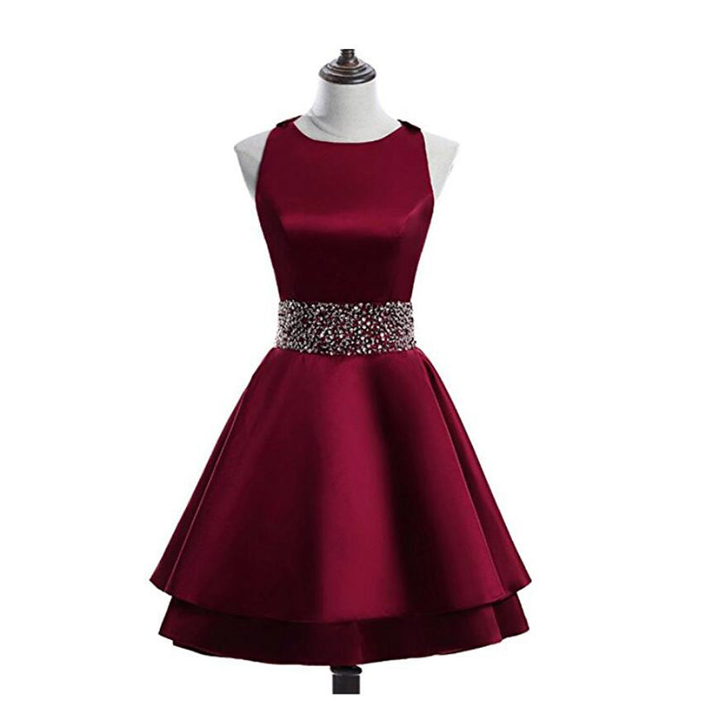 75e8f99c29a Halter A Line Junior Prom Dress Short 8th Grade Semi Formal Party Gown  Girls Homecoming Dress ...
