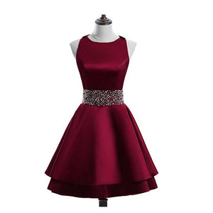15c6ffba0a7 Halter A Line Junior Prom Dress Short 8th Grade Semi Formal Party Gown Girls  Homecoming Dress