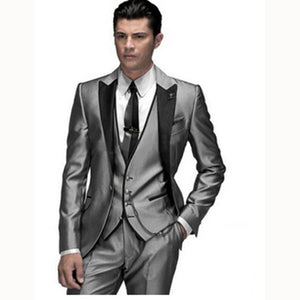 New custom Tuxedo Suits Men 2018 Prom/wedding Suit Slim Fit Groom chaquetas de terciopelo para hombre MD001