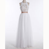 2020Summer Boho Countryside Wedding Dress Beach halter lace and Chiffon Bridal Gown with Belt robe de mariée