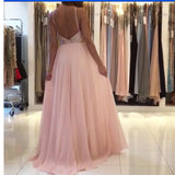 Halter Beading Senior Prom Dress Pink Long Backless Graduation Dress robe courte