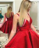 Classy Satin A Line Short Homecoming Dress Girls Graduation Party Prom Gown