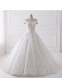Siaoryne Off the Shoulder Lace Women Bridal Dresses for Wedding with Beading WD229