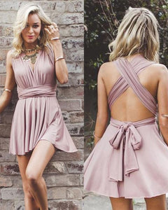 Sexy Short Party Dress Chiffon V Neck Girls Cocktail homecoming Gown