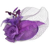 Ladies Royal Fascinators Wedding Races Sinamay Cocktail Fascinator Women Linen Feather Hat Party Fedora Cap 2018 New