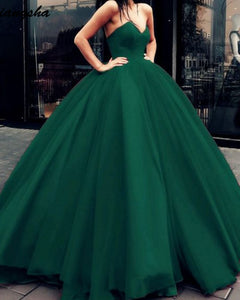 2020 Fashion Hot Ball Gown Prom Dresses Sweetheart Corset Green/Red PL6211