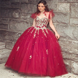 Siaoryne QD001 Ball Gown Tulle Quinceanera Dress Sweet 16 years Party Gowns with Jacket vestidos de 15 anos
