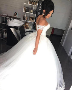 Siaoryne WD1007 off the Shoulder Ball Gown Wedding Dresses Lace Bridal Gown Cheap