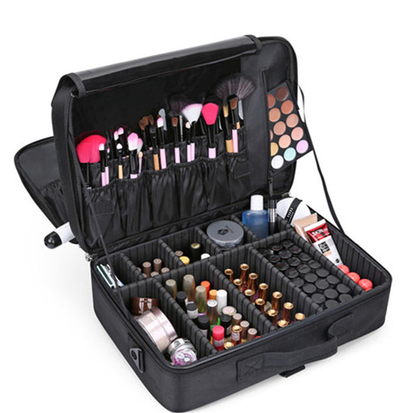 High Quality Professional  women Make up Cases Travel Cosmetics Suitcases for makeup Storage Bag Suitcases