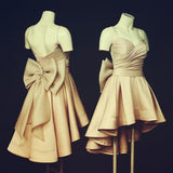 High Low Spaghetti Straps Nude Pink 8th Grade Prom Dresses Girls Junior Homecoming Gown