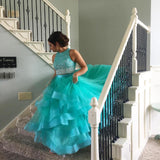 Siaoryne LP0907 Two Pieces Beading Layered ball gowns prom dress sexy fashion dress