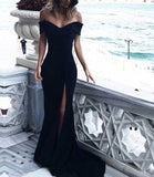 Trendy Sexy Evening dress Long Off the Shoulder Sexy Mermaid Prom Gowns LP7773