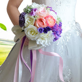Vintage Blue/Purple Silk Wild Flowers Bouquet for Wedding Bouquet Bridal BouquetCenterpieces Home Decoration
