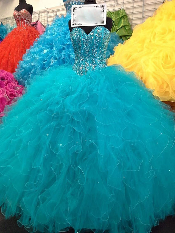 Siaoryne LP0929 Blue Ball Quinceanera Dresses Prom Dress Sweet 16 Ball Gowns