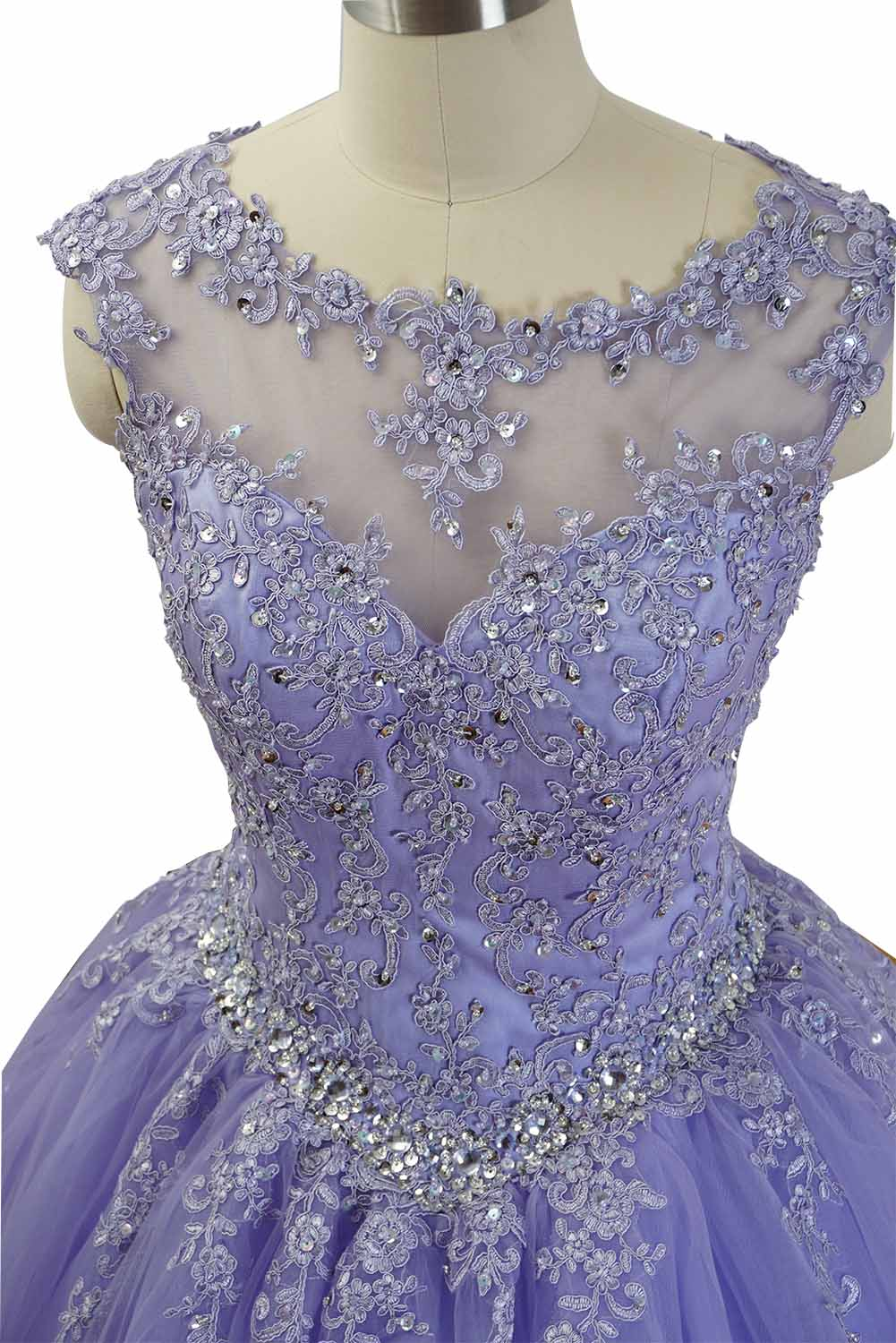 Gorgeous Cap Sleeves Lavender Ball Gown Quinceanera Dresses – Siaoryne