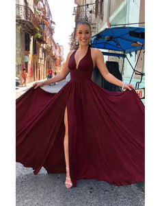 Siaoryne Halter Long Backless Long Bridesmaid Dresses Long Women party Gown PL232