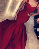 Sexy Mermaid Prom Dress Long 2020 Women Evening Formal Wear  with Straps PL2014