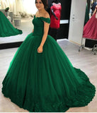 Siaoryne Off Shoulder Women Burgundy/Blue Wedding Gown lace beading Ball Gown Prom Dress PL632