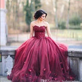 Siaoryne LP09263 Burgundy Prom Dress Ball Gown Quinceanera Dresses Sweet sixteen dresses Debutante Gown