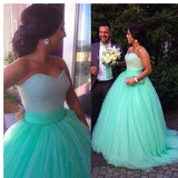 Siaoryne LP0928 Sweetheart Mint Green Ball Gown Quinceanera Dress Sweet 16 Dresses Beaded