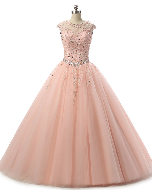 Siaoryne PL6500 Best Rose Gold Prom Dress Lace Ball Gown Quinceaneras for Girls Sweet Sixteen Dresses