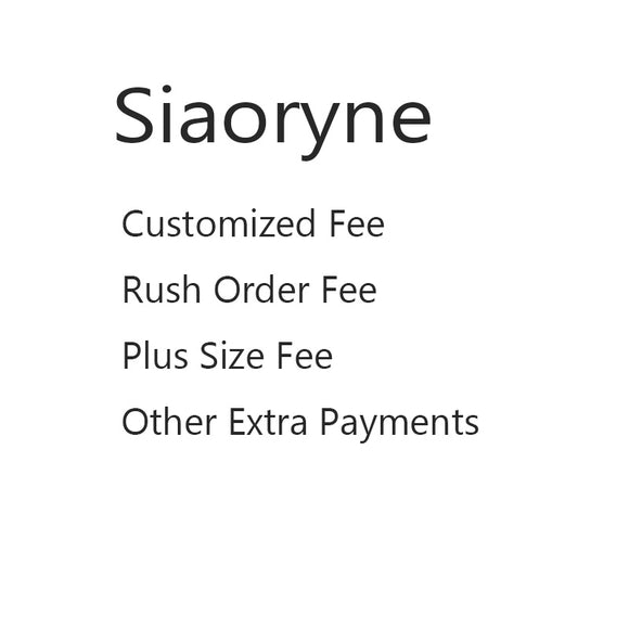 Extra Payment for Rush Order /Plus Size/Customized Fee /Multi items fee/Other Fee