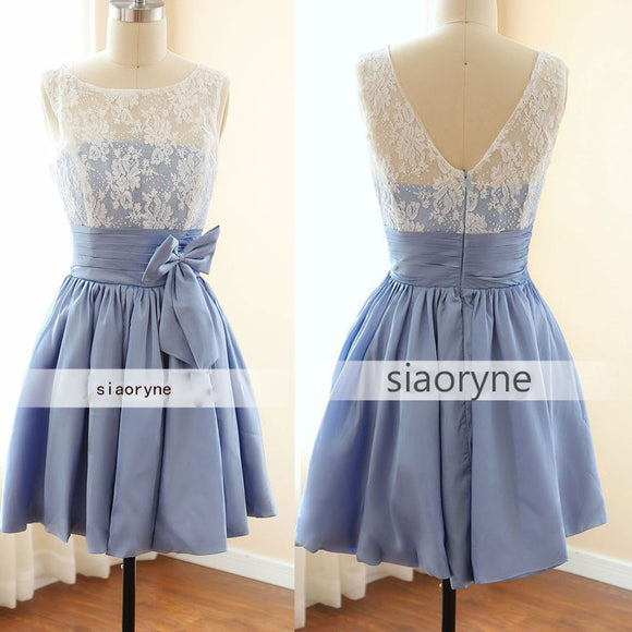 LP3641 Short Junior Bridesmaid Dress Simple Elegant Wedding Party Dress Short Prom Gown vestido de fiesta