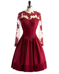 Siaoryne Lovely Wine Red Short Cocktail Dress 2020 Homecoming Gown with Lace for 8th Grade Girls PL211