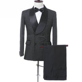 Slim Fit Shawl Lapel Men Suit Groom Wear Wedding Suits Tuxedo Blazer(Jacket+Pants+Tie)