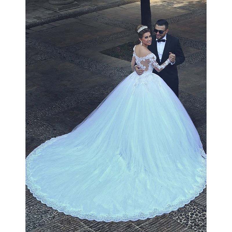 Buy Vintage Lace Wedding Dress With Long Sleeves Bridal