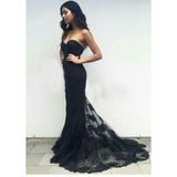 LP6983 Breathtaking Sweetheart Black Mermaid Lace Evening Gown robe de soiree longue  2020 Formal Party Dresses