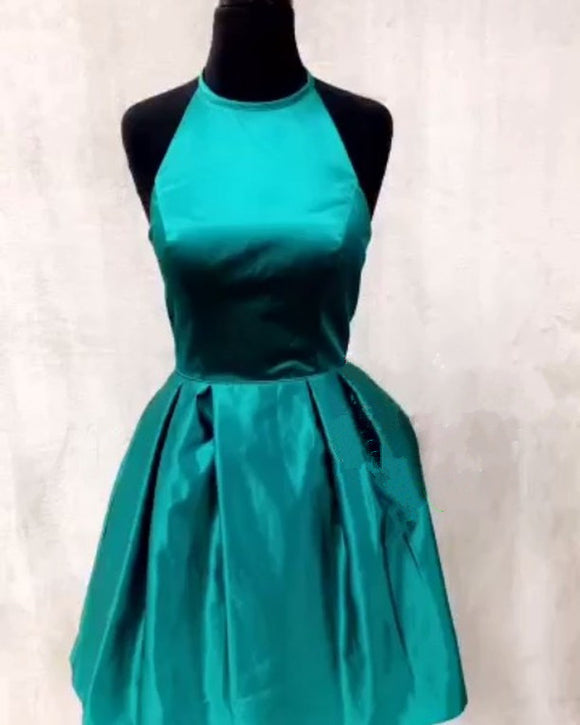 Siaoryne SP021 Halter New Green Blue Short Cocktail Homecoming Prom dresses for Girls