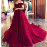 Charismatic Ball Gown Court Train Prom dresses off the shoulder Elegant Gown Engagement Dresses