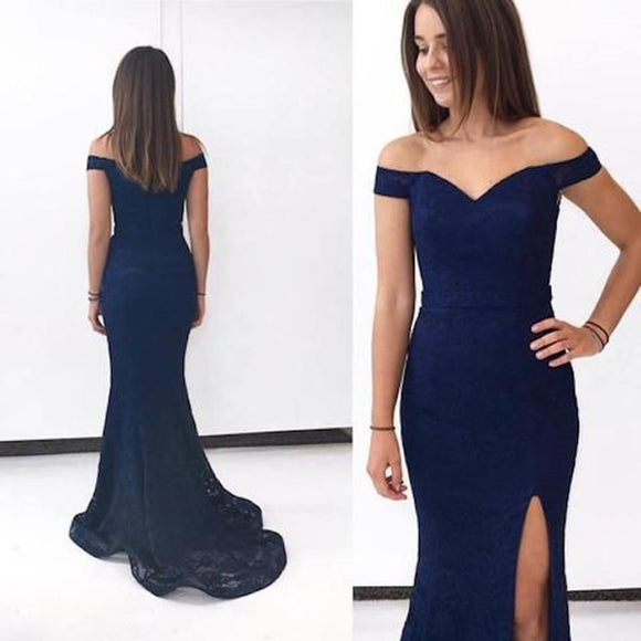 LP4587 Elegant Fitted Prom Dress Lace Mermaid  Long Formal evening gowns for women