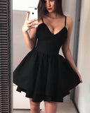 Spaghetti Straps Black Short Prom Dresses Graduation Gown SP320