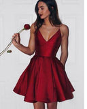 2019 Red Short Graduation Dress Junior Girls Short Prom Gowns SP665
