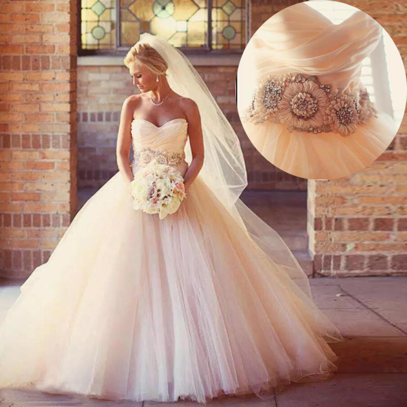 WD3340 Classic Sweetheart Ball Gown Princess Wedding Dress