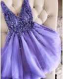 Siaoryne Burgundy Short prom Dresses Girls Junior Graduation Gown SH640