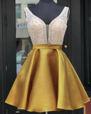 Beading Crystal Girls 8th Grade Homecoming Short Prom Dress SP547